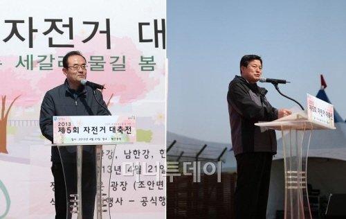 ↑최형근 남양주시 부시장과 김억기 경기도 교통건설국장(좌우)