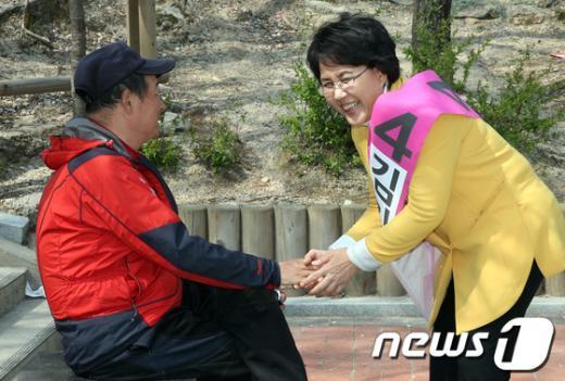 """[사진]김지선 """"소중한 한 표 부탁드립니다"""""""
