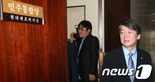 [사진]민주당 찾은 안철수