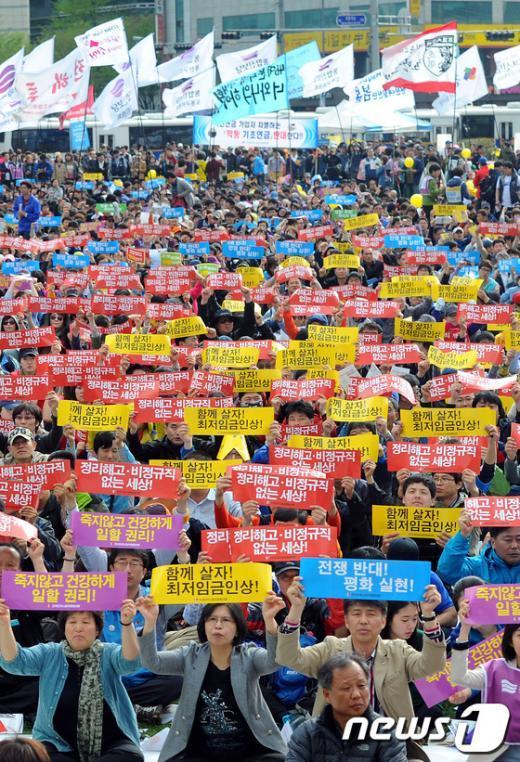 [사진]5.1 노동절, 노동자들의 외침