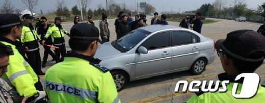 [사진]대북전단 살포 원천봉쇄하는 경찰