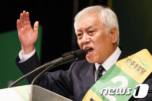 [사진]정견발표하는 김한길 민주 당대표 후보