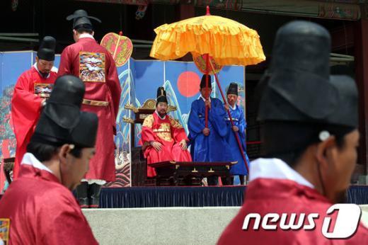 [사진]조선왕실의 풍속, 세종대왕자태실 태봉안의식 재현