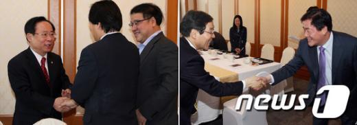 [사진]새누리 원내대표 경선 선거전 돌입한 이주영-최경환