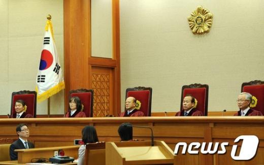 [사진]권한쟁의 공개변론 개최한 헌재