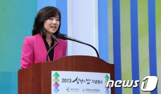 조윤선 여성가족부 장관.  News1 박지혜 기자