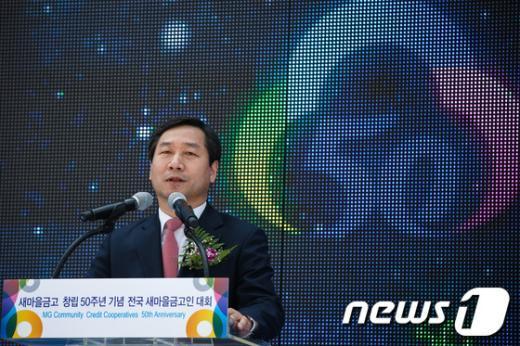 [사진]축사하는 유정복 안행부 장관