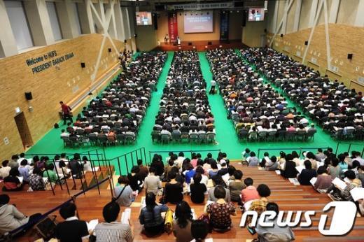 [사진]입시설명회 가득 메운 인파