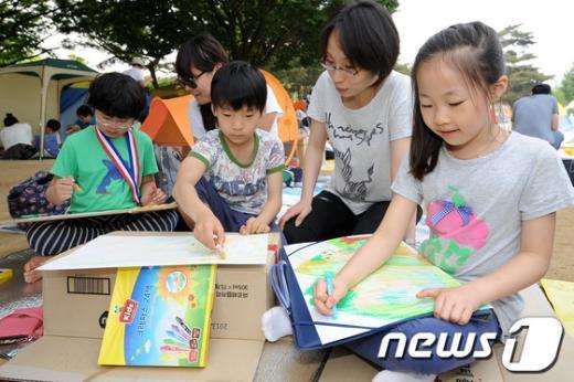[사진]어린이들의 그림그리기