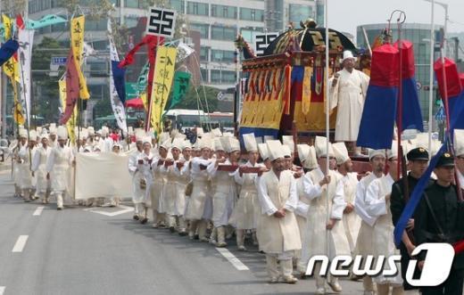 [사진]다시보는 명성황후 국장행렬