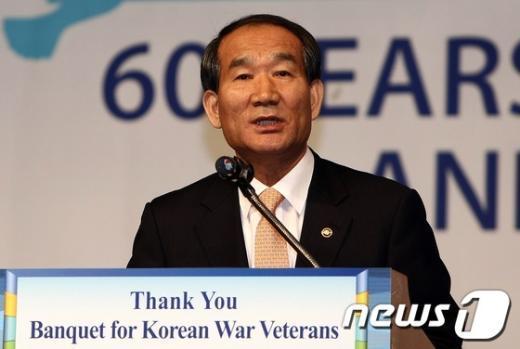 [사진]환영사하는 박승춘 국가보훈처장
