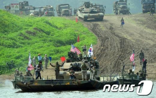 [사진]한미연합 도하작전
