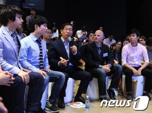 [사진]박원순 시장, 앱 토크 콘서트 참석