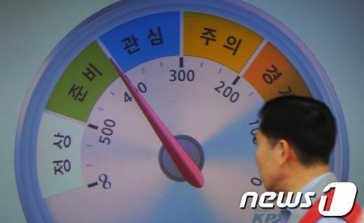 """[사진]전력수급경보 """"준비"""" 발령"""