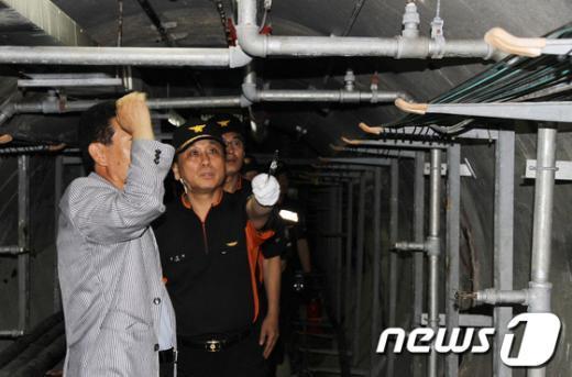 [사진]도봉소방서, 지하통신구 화재발생 대응 훈련