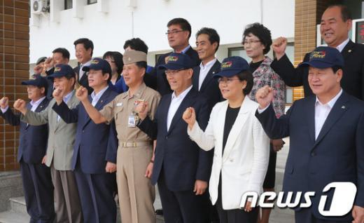 """[사진]""""해군 제1함대 화이팅!"""""""
