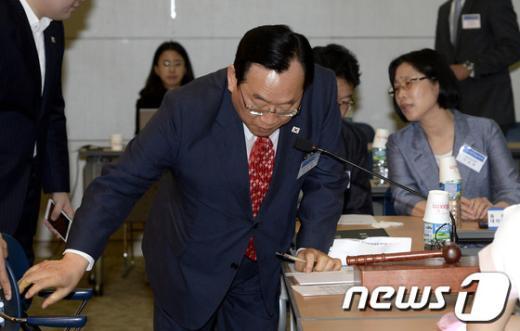 [사진]장애인체육회, 임원 전원 해임안 논의
