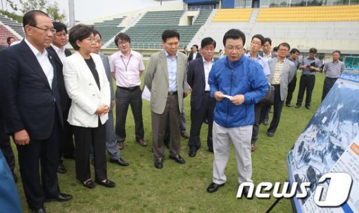 [사진]황우여, 평창 동계올림픽 준비상황 점검