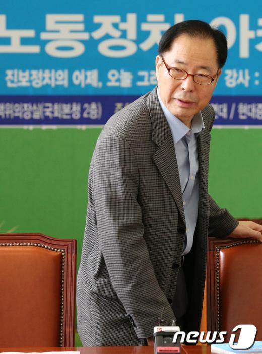 [사진]권영길 전 대표, 민주당 초청 강연