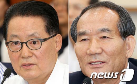 """[사진]박지원, 5.18 기념곡 놓고 보훈처장과 """"정면 충돌"""""""
