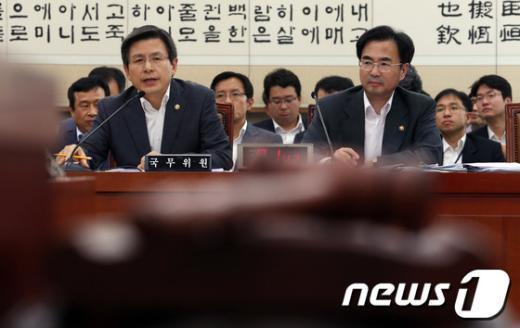 [사진]황교안 장관, 법사위 답변