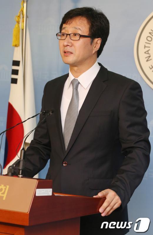 [사진]천호선 의원, 당대표 출마선언 기자회견
