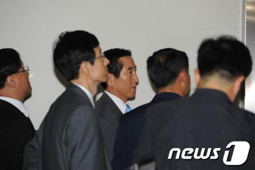 [사진]조현오 전 경찰청장, 항소심 공판 출석