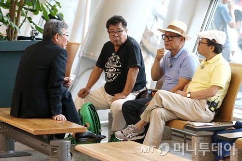 최불암(왼쪽부터)과 백일섭, 박근형, 신구 / 사진=최부석 기자