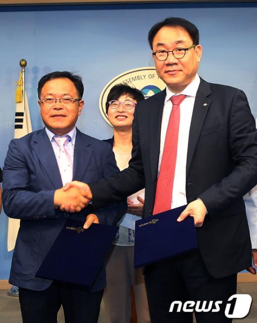 [사진]상생의 손잡은 CJ제일제당과 대리점