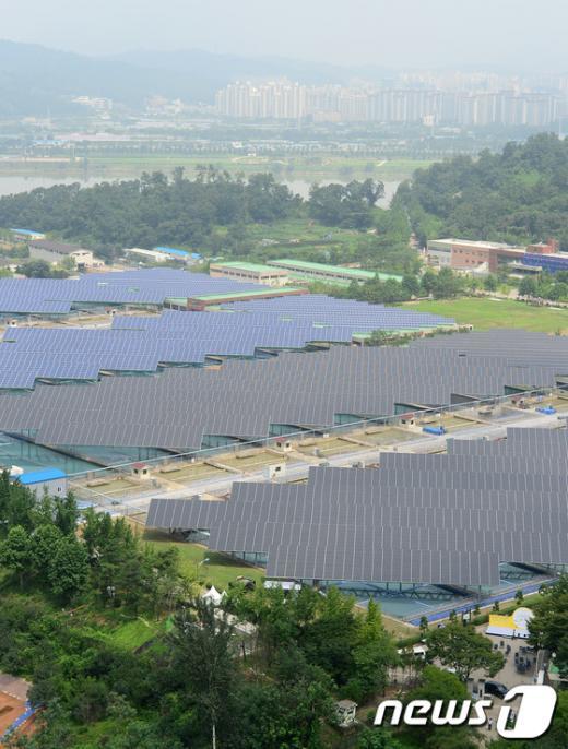 [사진]수도권 최대규모의 암사 태양광 발전소