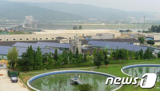 [사진]암사 태양광 발전소 본격 가동