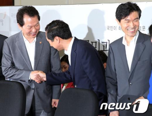 [사진]한국사·고교 무상교육 등 논의하는 당·정·청