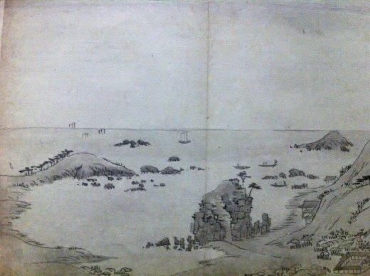 강세황, <금강산 여행길의 청간정(淸澗亭)>, 조선 1788, 국립중앙박물관 덕수 3922.