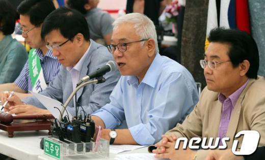 """[사진]김한길 """"10일 촛불집회 국민들의 적극 참여 기대"""""""