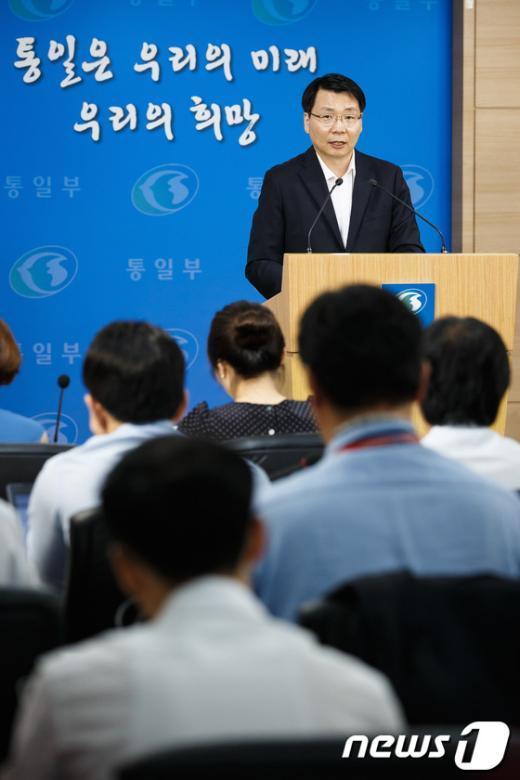 [사진]남북 주요 현안 답변하는 김형석 대변인