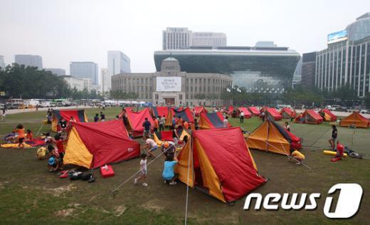 """[사진]""""서울광장에서 1박~2일!"""""""
