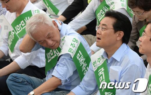 """[사진]""""원외정치 피곤하네"""""""