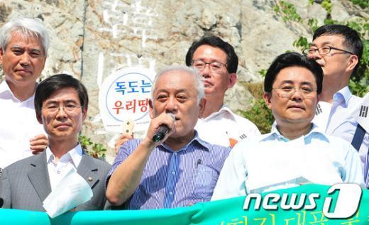"""[사진]김한길 """"日 군국주의 부활 좌시못해"""""""