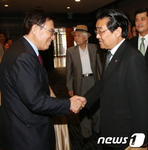 [사진]민화협 창립행사 참석한 전병헌 원내대표