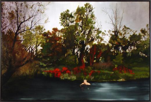 """마이클 해링턴의 """"수영""""은 풍경 속에서 홀로 수영하는 익명의 사람을 통해 인생의 긴 여정을 생각하게 한다.(숙명여대 제공)  News1"""