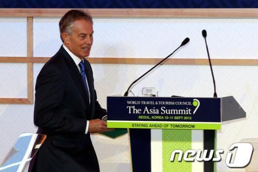 [사진]토니 블레어 전 총리, WTTC아시아총회 개막식 참석