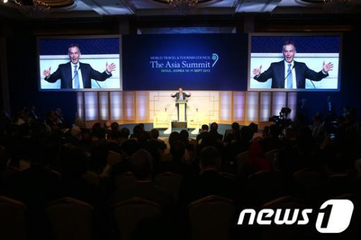 [사진]토니 블레어 전 총리, WTTC아시아총회 특별연설