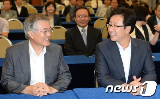 [사진]나살림 출범식 참석한 문재인-천호선