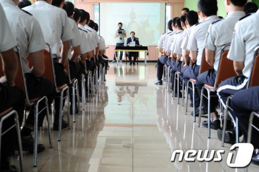 [사진]동작경찰서 방문한 박원순 시장