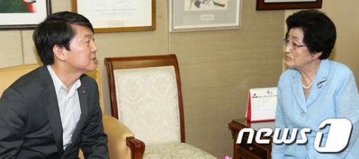 [사진]안철수 의원, 추석 맞아 이희호 여사 예방