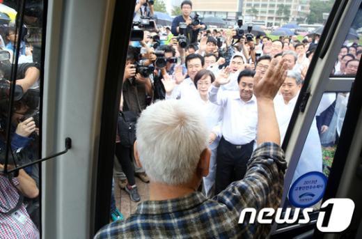 [사진]민생 탐방길 오른 김한길