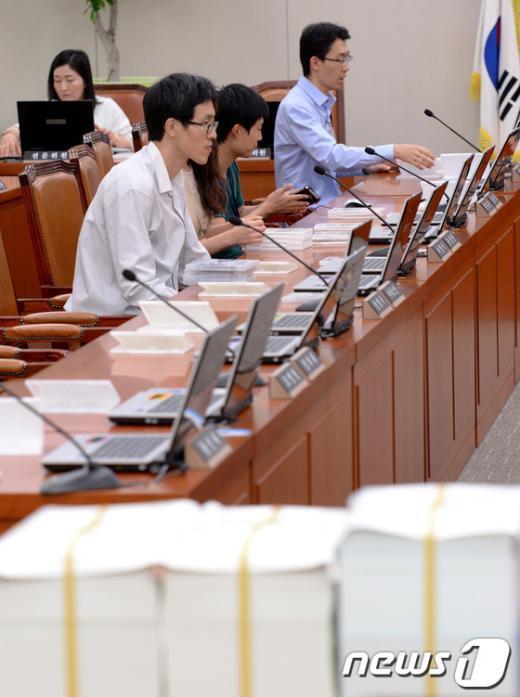 [사진]국감 준비하는 피감기관