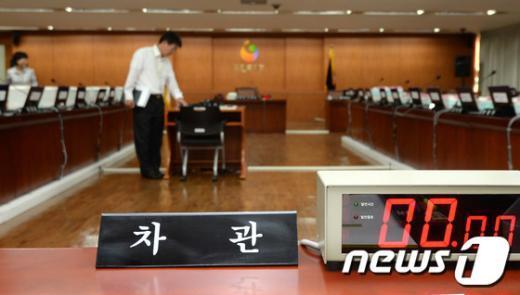 [사진]복지부 국감, 장관대신 차관