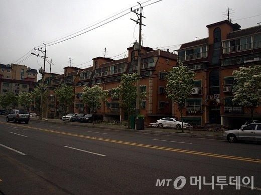 행복주택 시범지구로 지정된 서울 구로구 오류동역 인근 주택단지./사진=송학주 기자