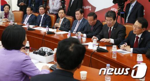 [사진]새누리당, '국정감사' 논의